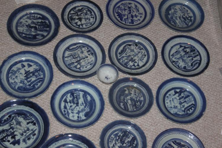16 Chinese Blue and White 19th C Export Plate