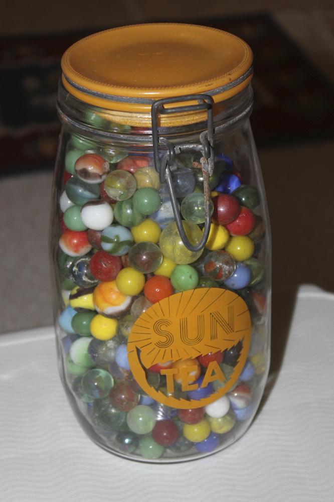 Jar of Vintage / Antique Marbles