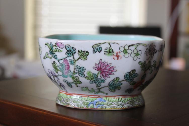 Antique / Vintage Chinese Square Bowl