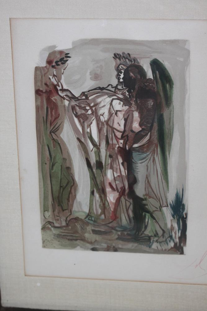 Salvador Dali Lithograph from Divine Comedy