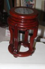 Marble Top Rosewood Vase Stand