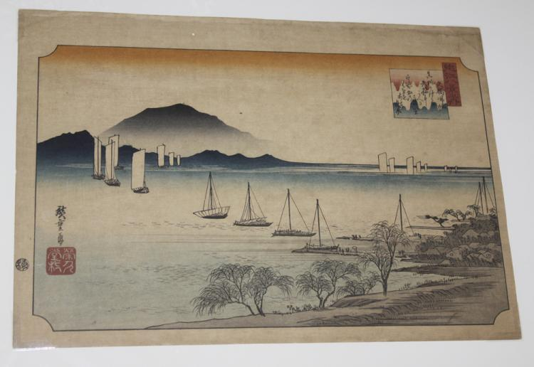 Hiroshige 19th Century Japanese Woodblock Print