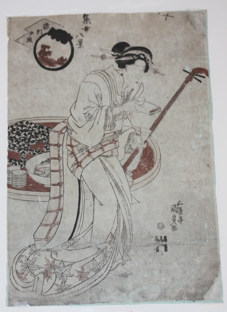 Kunisada Early 19th Century Japanese Woodblock Print