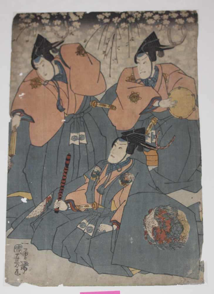 Kuniyoshi 19th Century Japanese Woodblock Print
