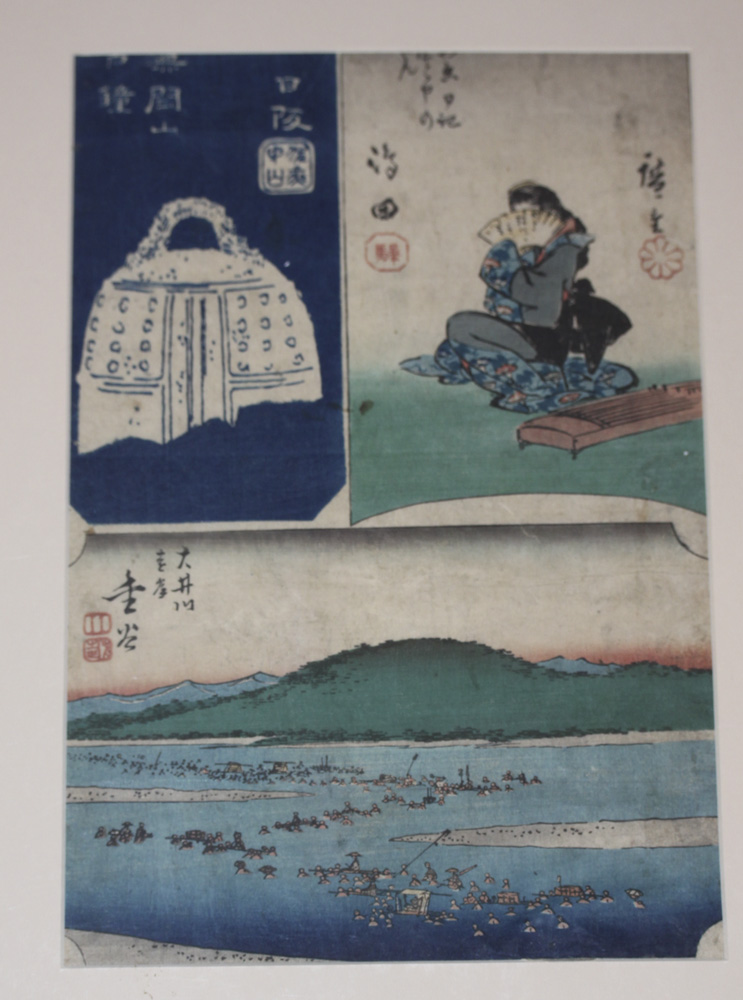 19th Century Japanese Woodblock Print by Hiroshige