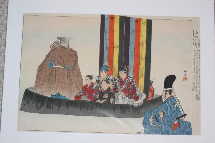 Tsukioka Kogyo Early 20th C Japanese Woodblock Print