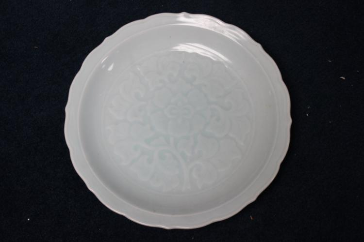 Antique Chinese / Asian Celadon Shallow Bowl / Plate