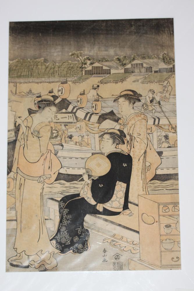 Katsukawa Shunzan 18th C Woodblock Print