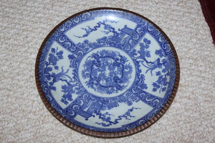 Antique Japanese Blue and White Imari Plate