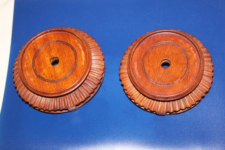 Antique / Vintage Pair of Chinese Hardwood Stands