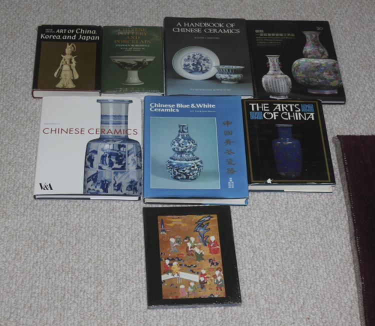Lot of 8 Chinese Art / Antique Hardcover Books