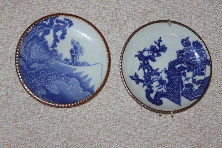 Two Antique Japanese Imari Plates