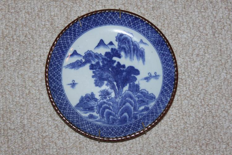 Antique Japanese Imari Blue and White Plate