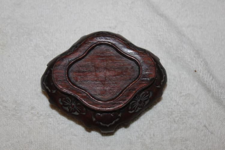 Unusual Shape Well Carved Chinese Wood Stand