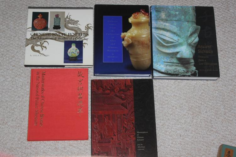 Lot of 5 Chinese Hardcover Books