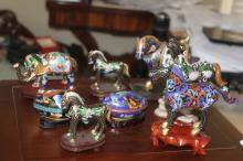Collection of Miniature Cloisonne Animals