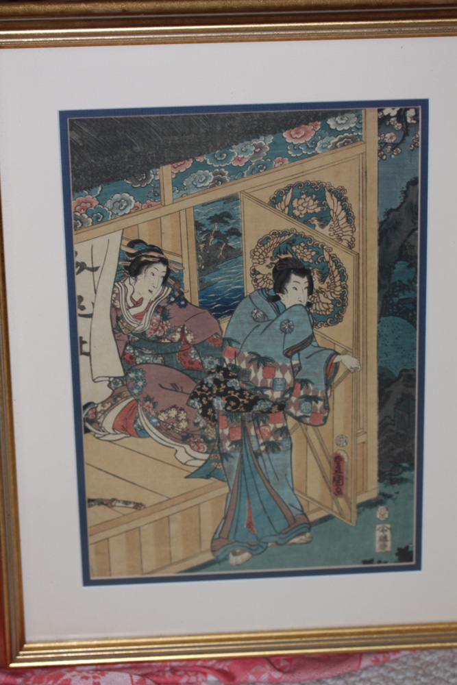 Antique Japanese Toyukuni Woodblock