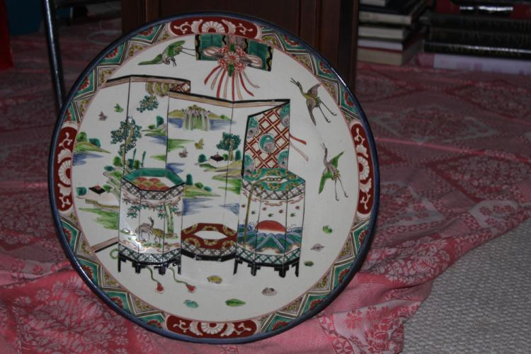 Antique Famille Verte Charger