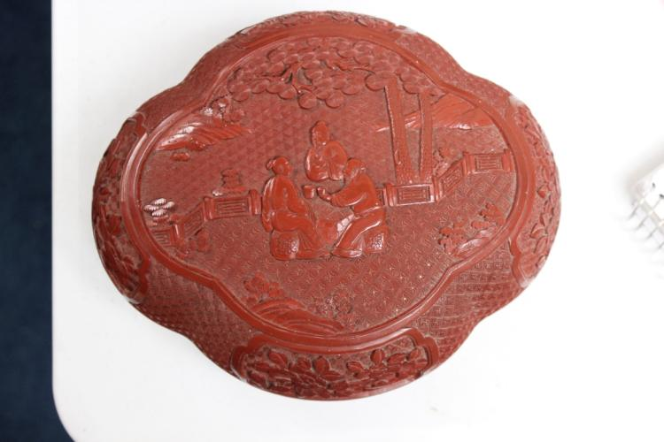 Chinese Lacquer Cinnabar Box