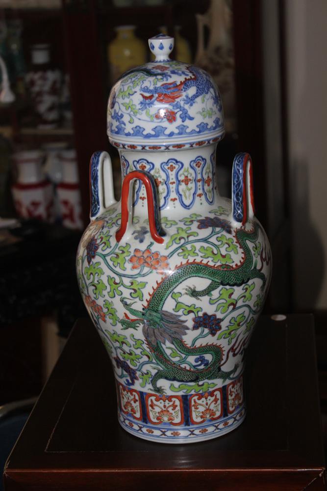 Chinese Dragon Motif Vase / Jar