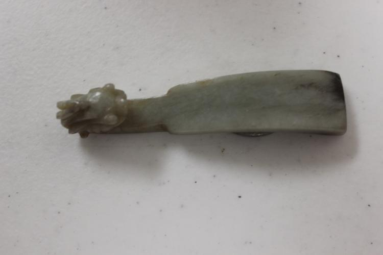 Antique Chinese 19th / 20th Century Jade Belt Hook