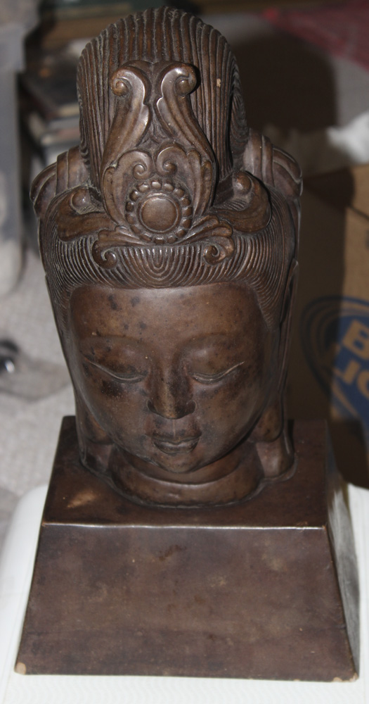 Mid Century Ceramic Kwan Yin Head on Base