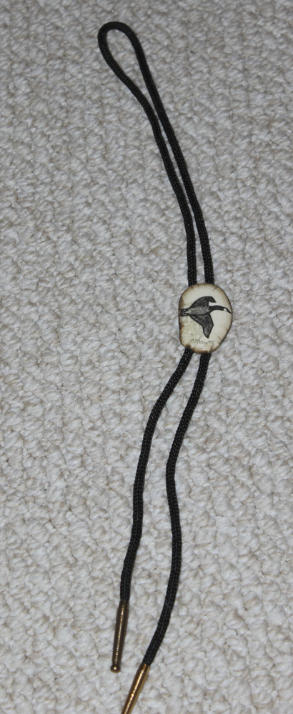 Signed Peter Mayac Bolo Tie