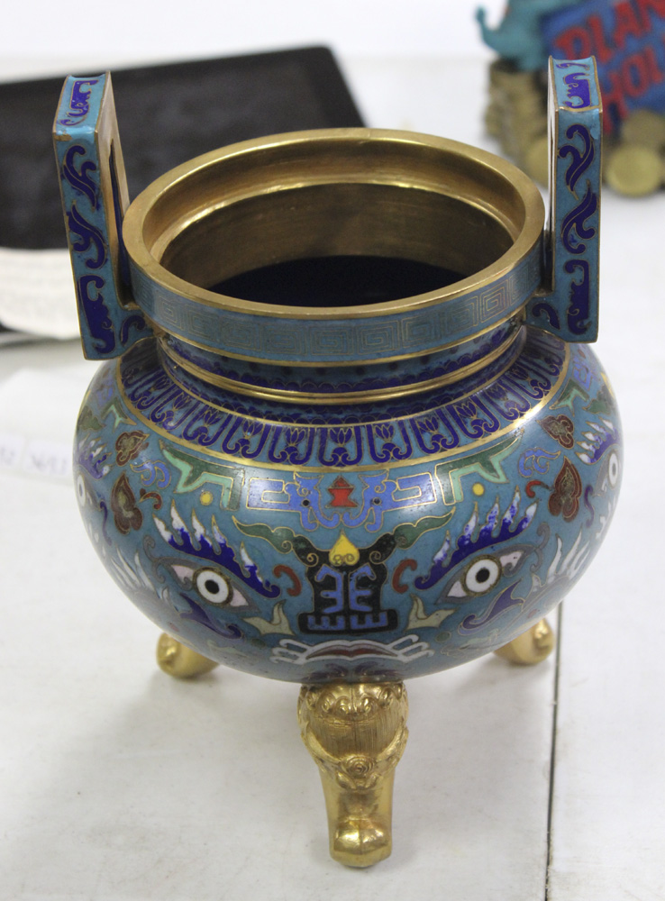 Cloisonne Chinese Urn w/o Lid