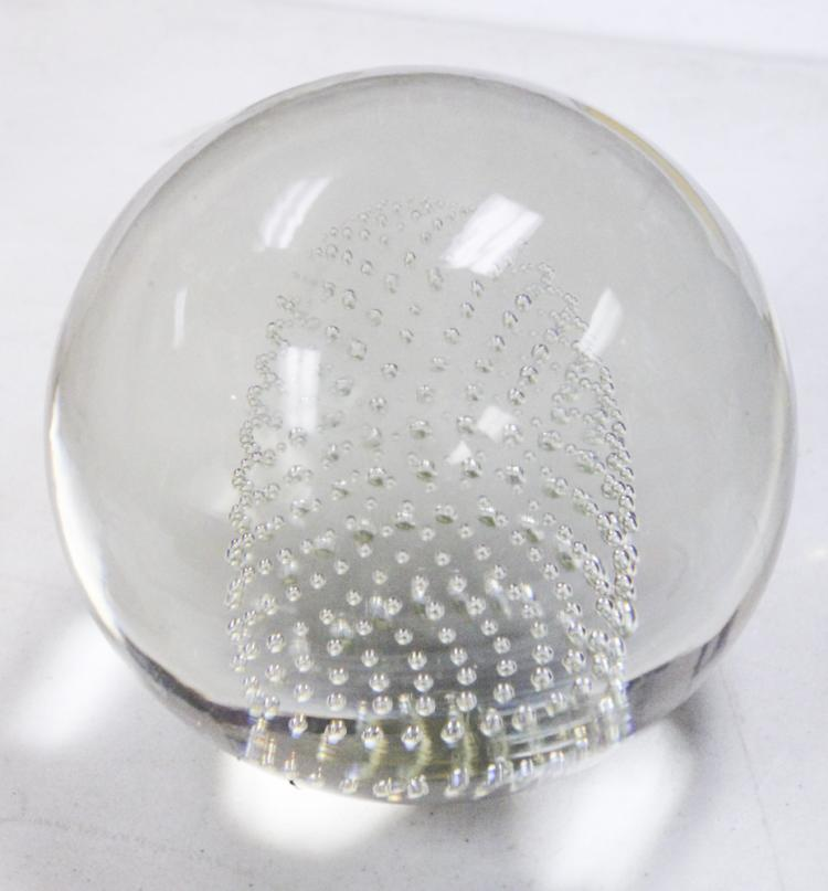 Large Murano Controlled Bubble Paperweight