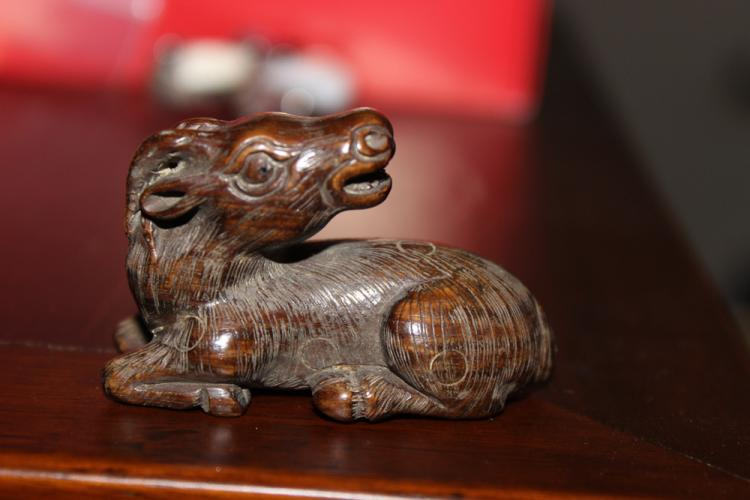 Antique Japanese / Asian Wood Netsuke of Horse