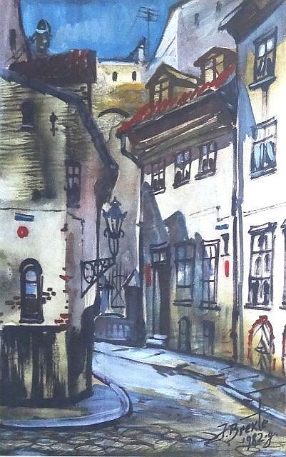 Janis Brekte (1920-1985) - Sun in the Old Town
