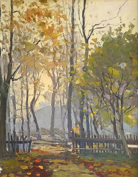 Alfejs Bromults (1913-1991) - Autumn in the city