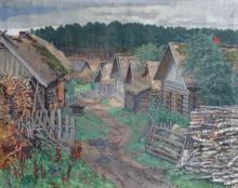 Nikolai Bogdanov-Belsky (1868–1945) - Village in Latgale
