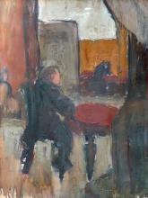Aleksandra Belcova (1892–1981) - At cafe