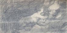 """Janis Rozentals (1866-1917) - Painting """"Lietuvens"""" sketch"""