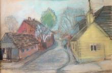 Aleksandra Belcova (1892–1981) - Street in a small town