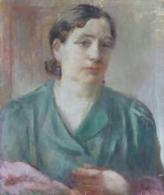 Aleksandra Belcova (1892–1981) - Portrait of Anna Ahmatova