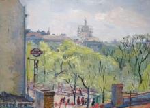 Aleksandra Belcova (1892–1981) - View from Elizabetes Street to Verman garden