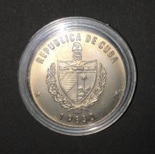 1 Peso 1986 Mexiko Fußball 1986 Republica de Cuba