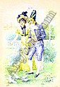 By Felix Courche (1863-?) - dandy and his lady, Felix Courché, Click for value