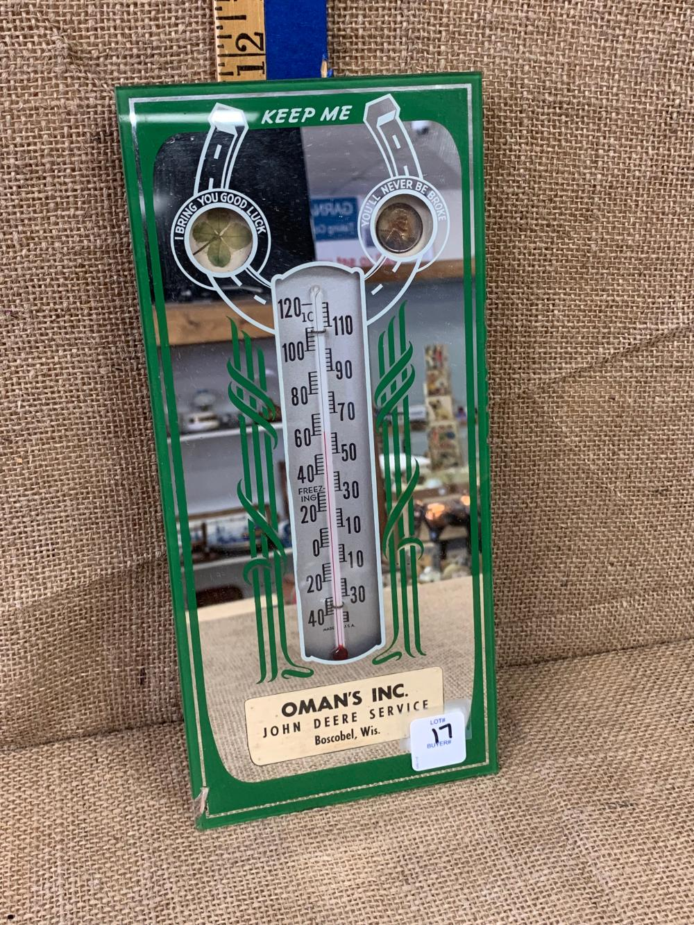 Mirror/thermometer