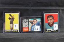3 football cards: