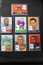 7 football cards: