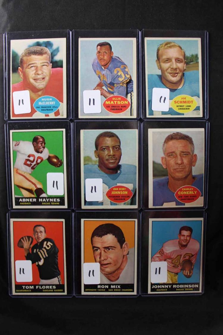 9 football cards: