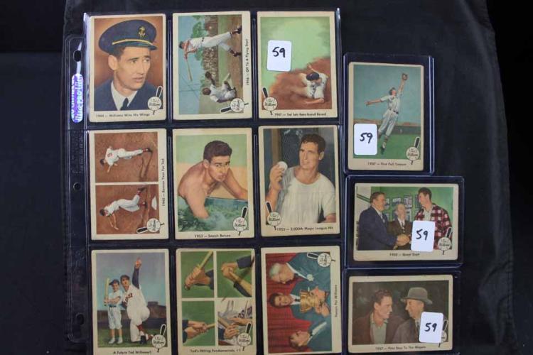 12 baseball cards: