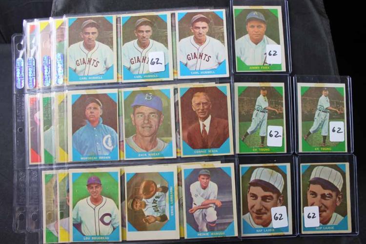 36 baseball cards:
