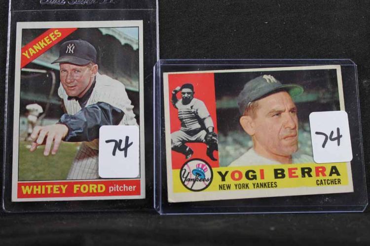 2 baseball cards: