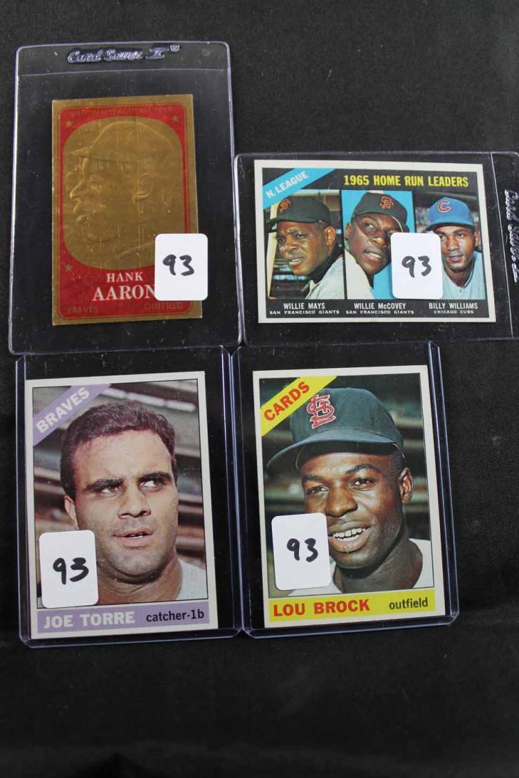 4 baseball cards: