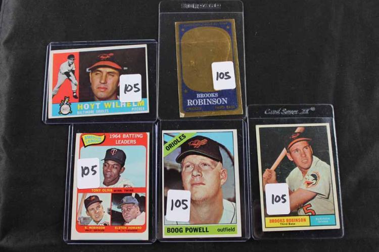5 baseball cards: