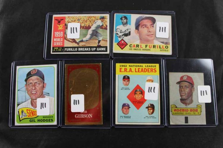 6 baseball cards: